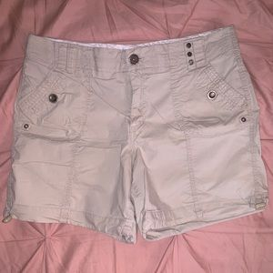 intro Casual Elegance Tan Comfort Stretch Shorts